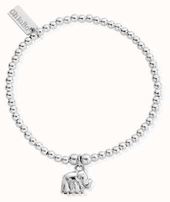 ChloBo Sterling Silver Cute Charm Elephant Bracelet SBCC405