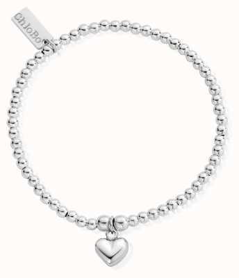 ChloBo child Sterling Silver 18cm Cute Charm Puffed Heart Bracelet CSBCC023