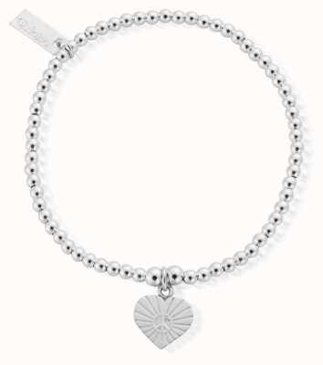 ChloBo Sterling Silver Cute Charm Sunray Heart Bracelet SBCC130
