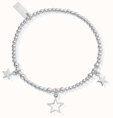 ChloBo Sterling Silver Triple Star Bracelet SBSB097806
