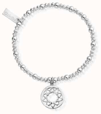 ChloBo Sterling Silver Heart Mandala Bracelet SBPUMP460