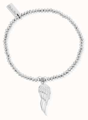 ChloBo Sterling Silver Mini Disc Angel Wing Bracelet SBMD703