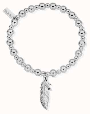 ChloBo Sterling Silver Mini Small Ball Feather Bracelet SBMSB706