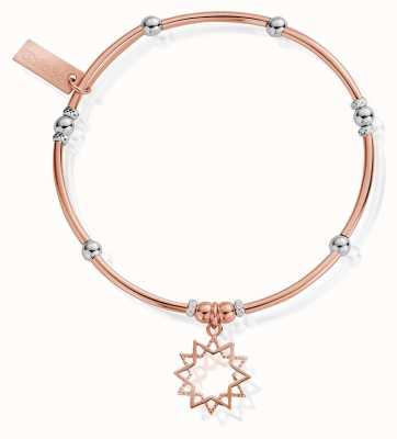 ChloBo Rose And Silver Wishful Soul Star Bracelet MBMNBR591