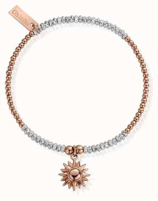ChloBo Rose And Silver Sparkle Sun Bracelet MBCRDB579