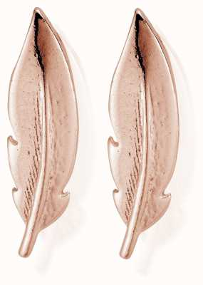 ChloBo Rose Feather Cuff Stud Earrings REST729