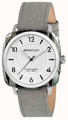 Briston Clubmaster Ladies Chic Grey Strap White Dial 18536.SA.GRE.2G.LNG