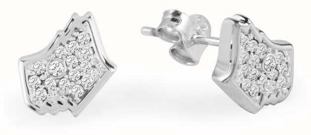 Radley Jewellery Love Radley Dog Head Silver Tone With Stones Ear Studs RYJ1027