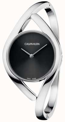 Calvin Klein Party Silver Stainless Steel Bracelet Black Dial K8U2S111