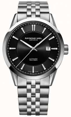 Raymond Weil Mens Freelancer Automatic Stainless Steel Bracelet 2731-ST-20001
