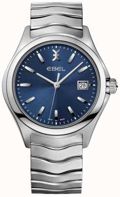 EBEL Men's Wave Blue Dial Stainless Steel Bracelet Date Display 1216238