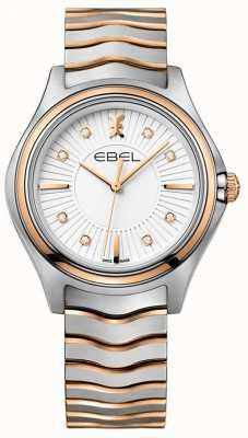 EBEL Women's Diamond Wave Sunray Dial Two Tone Rose Gold 1216306