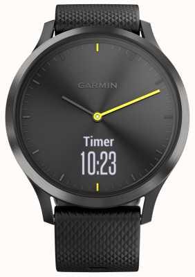 Garmin Vivomove HR Activity Tracker Black Rubber Yellow Accents 010-01850-01