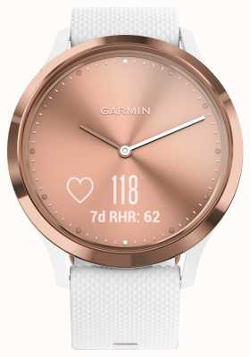 Garmin Vivomove HR (Small/Medium) Activity Tracker White Rose Gold 010-01850-02