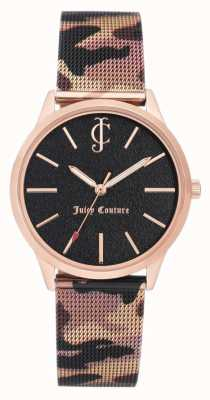 Juicy Couture Womens Brown Camouflage Print Leather Strap Black Dial JC-1014RGCA