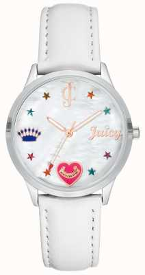 Juicy Couture Womens White Silcone Strap Watch With Coloured Markers JC-1019WTWT