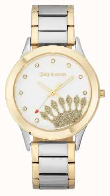 Juicy Couture Womens Gold Tone Crown Dial And Two Tone Bracelet JC-1053WTTT
