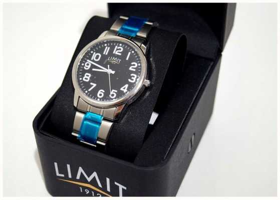 Limit | Mens | Black Dial | Stainless Steel Bracelet | 5648