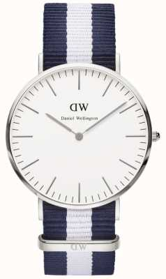 Daniel Wellington Mens Silver Classic Glasgow Watch DW00100018