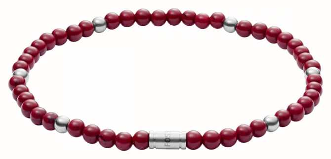 Fossil womens vintage motifs Red Bracelet JF02941040