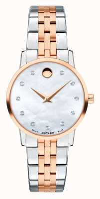 Movado Womens Museum Two Tone Rose Stainless Steel 0607209