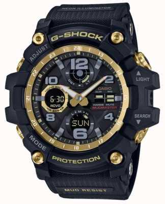 Casio G-Shock Radio Controlled Black Gold Rubber Strap GWG-100GB-1AER