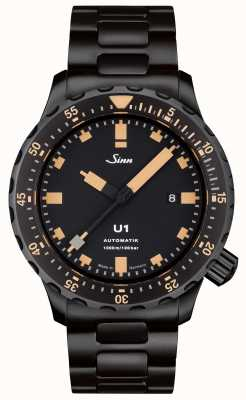 Sinn U1 SE Black Bracelet Tegiment Watch 1010.023 BRACELET