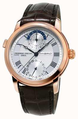 Frederique Constant Hybrid Manufacture 3.0 Automatic Smartwatch Brown Strap FC-750MC4H4