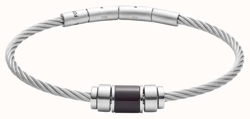 Fossil Mens Stainless Steel Metal Bangle Bracelet JF02925040