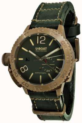 U-Boat Doppiotempo 46 Bronzo GR Automatic Green Leather Strap 9088