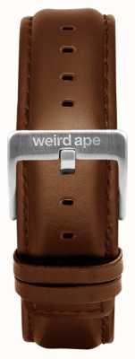 Weird Ape Oak Leather 20mm Strap Silver Buckle ST01-000099