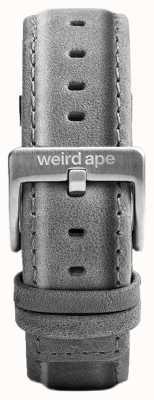 Weird Ape Slate Grey Suede 20mm Strap Silver Buckle ST01-000016