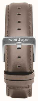 Weird Ape Hazelnut Leather 20mm Strap Silver Buckle ST01-000101