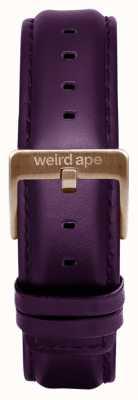 Weird Ape Aubergine Leather 16mm Strap Chocolate Buckle ST01-000068