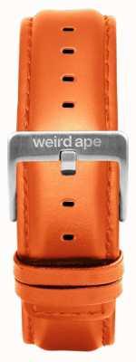 Weird Ape Orange Leather 20mm Strap Silver Buckle ST01-000111