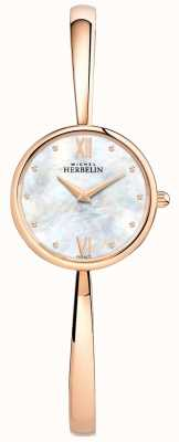 Michel Herbelin Ladies Rose Gold Watch Rose Gold Bangle 17408/BPR19