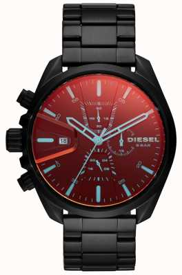 Diesel Mens MS9 Watch Iridescent Glass Chronograph Dial DZ4489