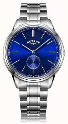 Rotary Mens Windsor Offset Stainless Steel Bracelet Watch GB05360/05