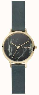 Skagen Womens Anita Watch Grey Marble And Leather Strap SKW2720
