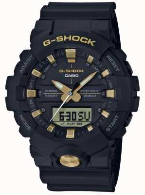 Casio G-Shock Analogue Digital Multi-Function Matt Black Gold GA-810B-1A9ER