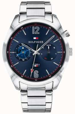 Tommy Hilfiger Mens Stainless Steel Blue Dial Multifunction 1791551