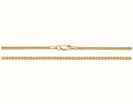 "Treasure House 9k Yellow Gold Spiga Chain 16"" Ch488/16"