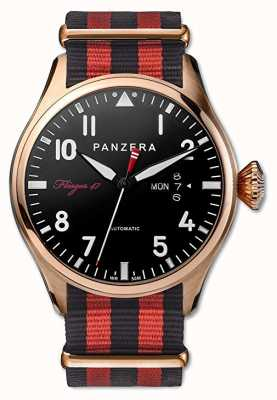 Panzera Flieger 47 Mens Dornier Dusk Black And Red Strap F47-03MN2