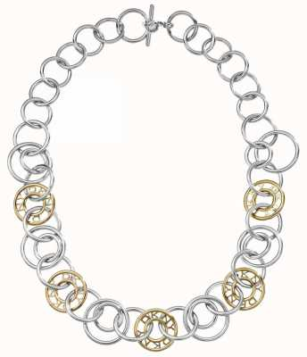 DKNY Two Tone Silver And Gold Plated Necklace NJ1950040