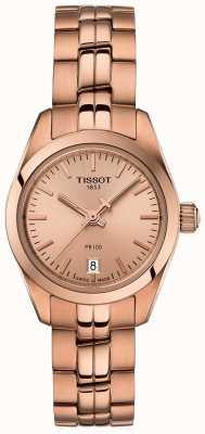 Tissot Ladies PR100 Rose Gold Bracelet Mother Of Pearl Dial Watch T1010103345100