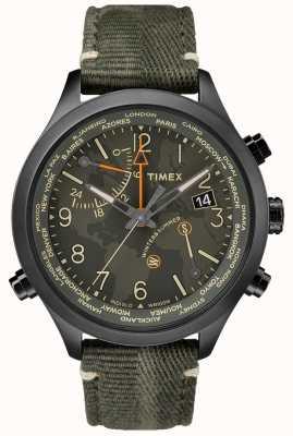Timex Waterbury World Time 43mm Fabric Watch TW2R43200VQ
