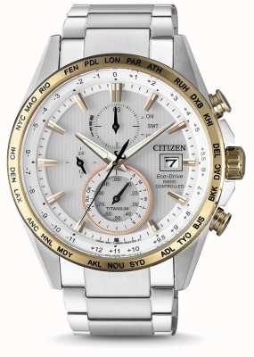 Citizen Mens Radio Controlled Eco-Drive World Timer Titanium AT8156-87A