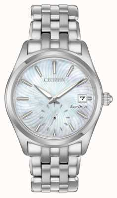 Citizen Ladies Eco-Drive Corso Stainless-steel Pearl Dial Watch EV1030-57D