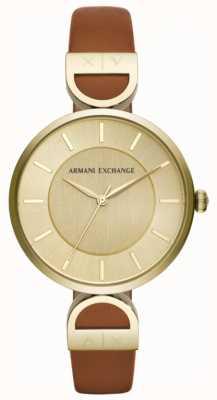 Armani Exchange Brooke Womens Brown Leather Strap AX5324