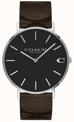 Coach Womens Boyfriend Bright Pink Dial Watch 1402156